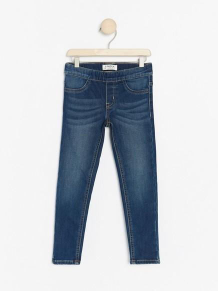 Blue slim fit jeggings with brushed inside Blue
