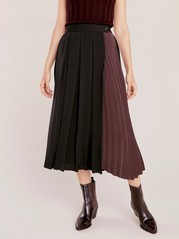 Pleated wrap skirt  Black