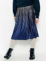 Plisovaná metalická sukně Černá