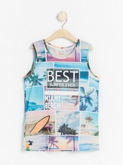 Tank top with print and palm trees White