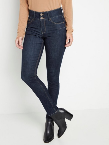 LILLY Dark blue slim fit shaping jeans Blue