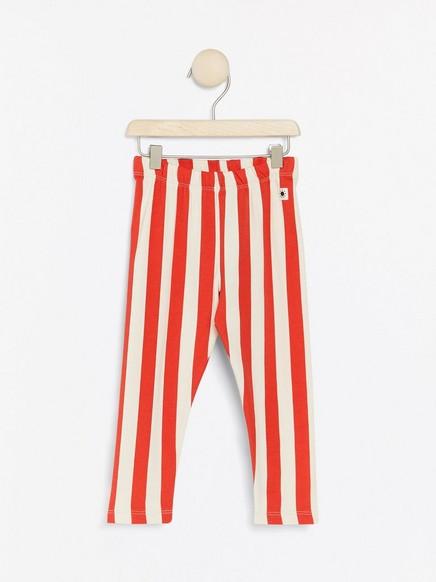 Raidalliset leggingsit, joissa harjattu sisäpuoli Punainen