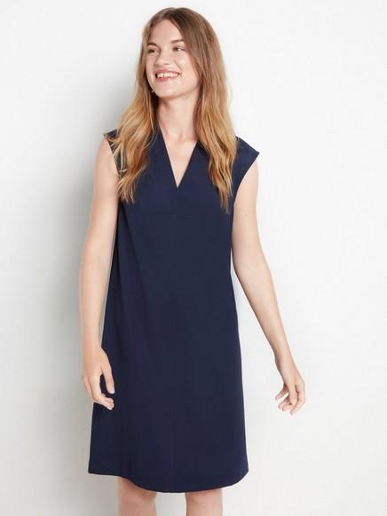 Marineblå kjole med A-fasong Blå