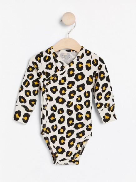 Omlottbody med leopardmönster Beige