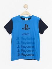Tričko spotiskem Playstation Modrá
