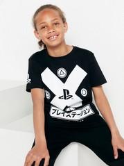 Tričko spotiskem Playstation Černá
