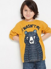 Long sleeve top with animals  Yellow