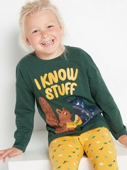 Long sleeve top with animals  Green