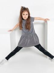 Stříbrné třpytivé šaty Šedivá