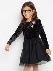 Černé šaty spláštěm Černá