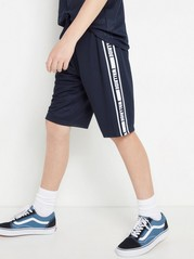 Mesh shorts with side stripes Blue