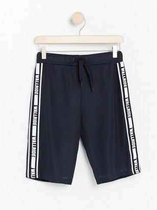Shorts i mesh med revär Blå