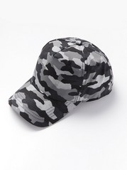 Cap with camouflage pattern Black