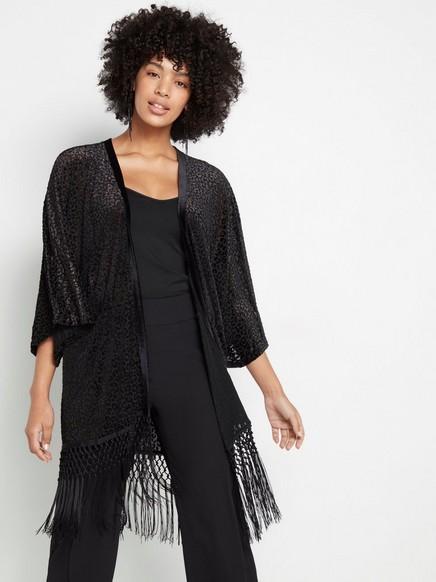Černé kimono Černá
