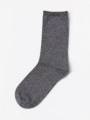Glitrende svarte sokker Svart
