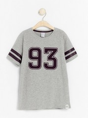 Short sleeve t-shirt with print Grey