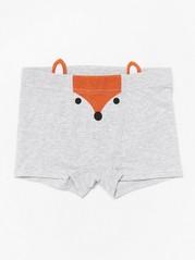Grey boxer shorts with fox print Grey