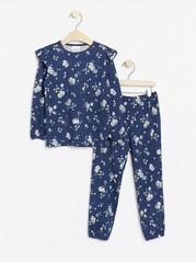 Pyžamo spotiskem Modrá