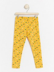 Yellow leggings with dinosaurs Yellow