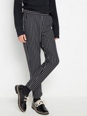 Jerseybukse med striper Svart