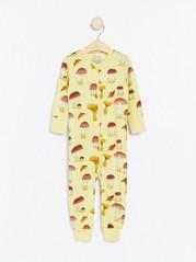 Gul pyjamas med champignoner Gul