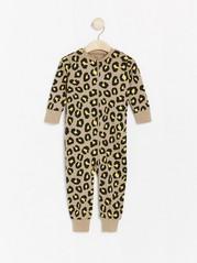 Leopard patterned pyjamas Beige