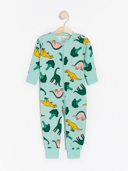 Pyjamas med dinosaurer Turkis