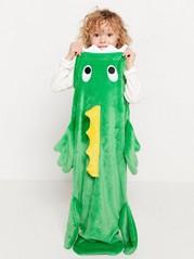 Krokodilfilt cosy sack Turkos