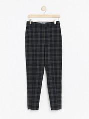 Kostkované kalhoty POLLY Šedivá
