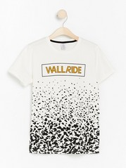 Short sleeve t-shirt with front print White