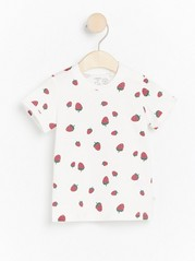 Patterned short sleeve t-shirt White