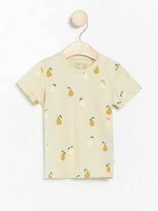 Kuvioitu lyhythihainen t-paita Vihreä
