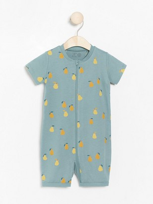 Turquoise pyjamas with pears Turquoise