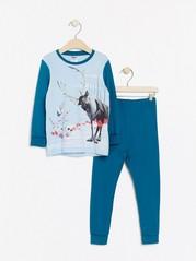 Frozen-pyjama, jossa Olaf-painatus Turkoosi