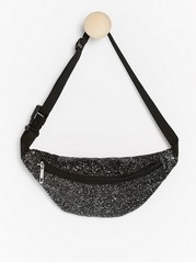 Glittery bum bag Black