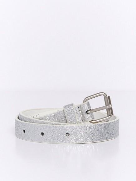 Sølvfarget glitterbelte Metall