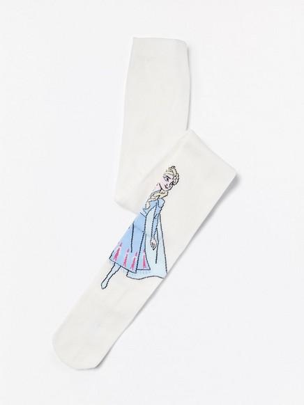 Sukkahousut, joissa Frozen-kuvio Valkoinen