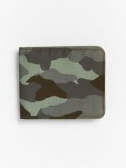 Wallet in camouflage print Khaki