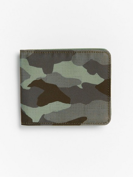 Wallet in camouflage print Khaki