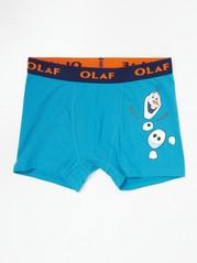 Blå boxershorts med Frost-tryck Turkos