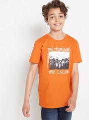 Oranžové tričko sfotopotiskem Oranžová