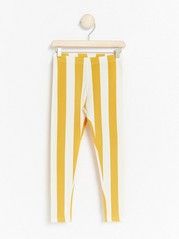 Striped leggings Yellow