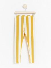 Striped leggings Yellow