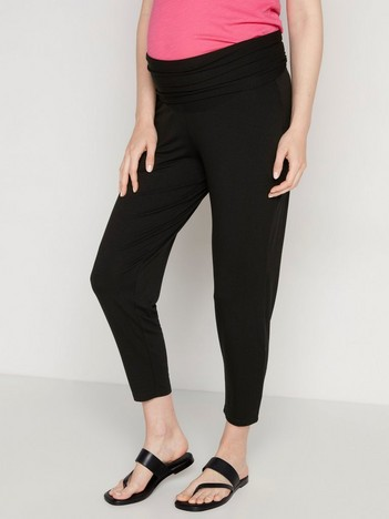 610e81e1a2a MOM Black jersey trousers