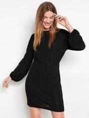 Musta mekko, jossa on kimaltavia raitoja Musta