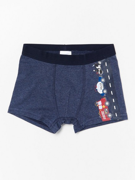 Blue boxer shorts with rescue vehicles Blue