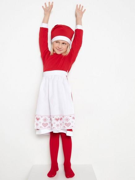 Santovské šaty Červená
