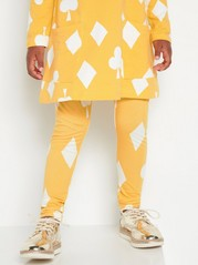 Kuviolliset leggingsit Keltainen