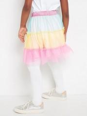 Duhová tylová sukně Růžová