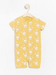 Gul pyjamas med kaniner Gul